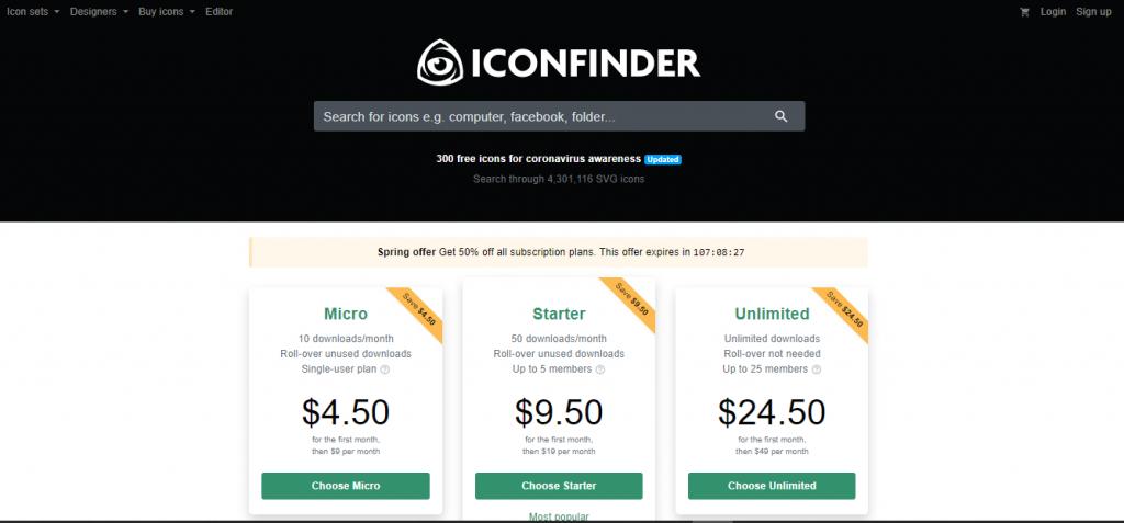 criação de conteúdo visual iconfinder